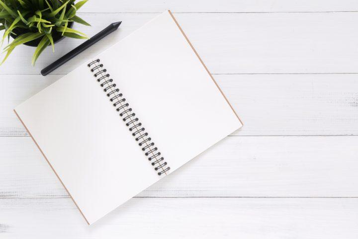 white blank notebook 733857
